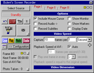 Bulent's Screen Recorder
