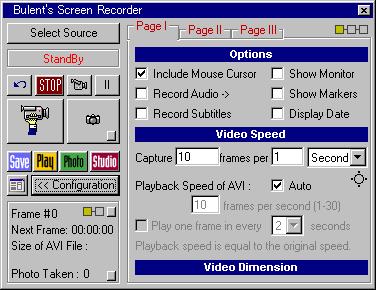 Bulent's Screen Recorder
