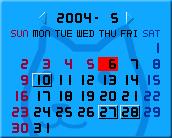クターのメモメモカレンダー