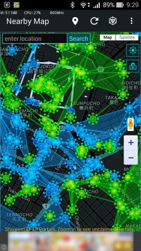 Nearby Map for Ingress